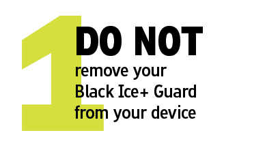 Do not remove your guard
